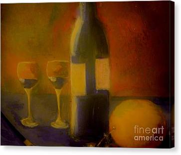 Painting And Wine Canvas Print by Lisa Kaiser