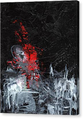 Canvas Print featuring the painting Painting Death by Sean Seal