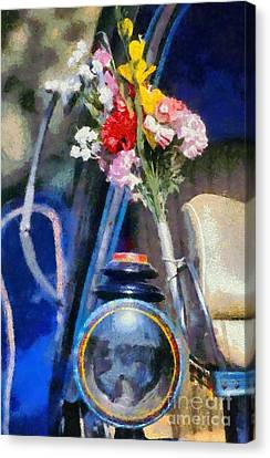Horse Carriage Details Canvas Print by George Atsametakis