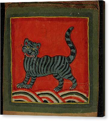 The Tiger Canvas Print - Painting Of A Member Of The Cat Family by British Library