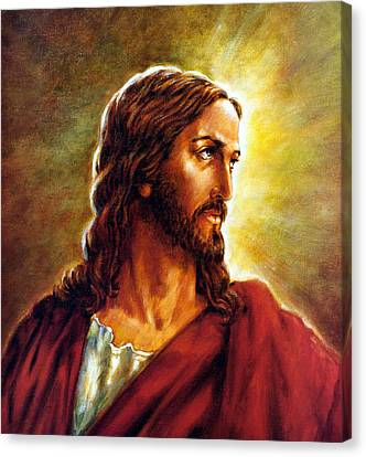 Painting Of Christ Canvas Print by John Lautermilch