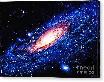 Painting Of Galaxy Canvas Print