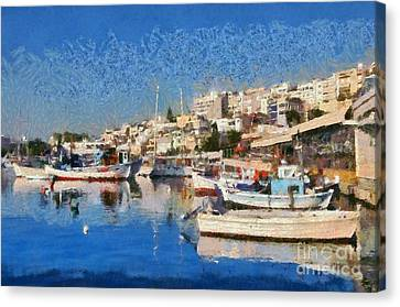 Mikrolimano Port  Canvas Print by George Atsametakis
