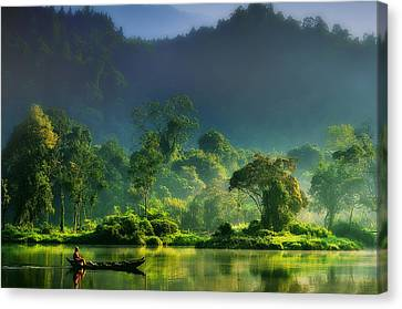 Painting Of  Nature Canvas Print by Hardibudi