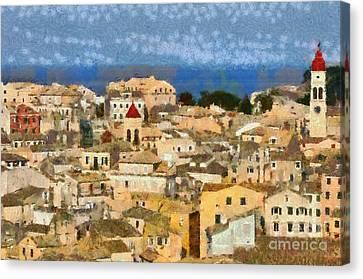 Corfu Canvas Print - Old City Of Corfu by George Atsametakis
