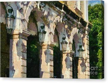 Traditional Buildings In Corfu City Canvas Print