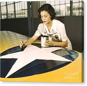 Painting Wing Insignia 1942 Canvas Print by Padre Art