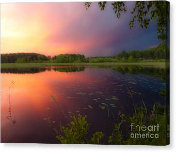 Painting With Stormy Light Canvas Print