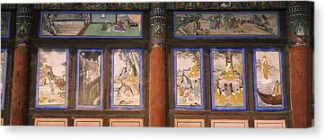Paintings In A Buddhist Temple, Kayasan Canvas Print by Panoramic Images