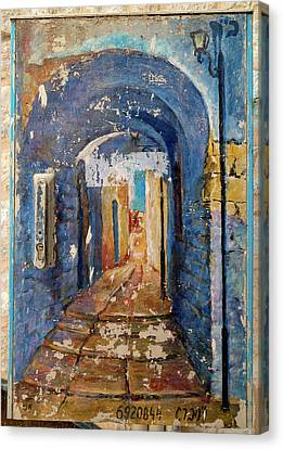 Paintings Of A Building, Hod Hasharon Canvas Print