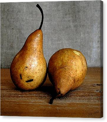 Pair Of Pears Canvas Print by Cole Black