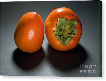 Pair Of Persimmons Canvas Print by Dan Holm