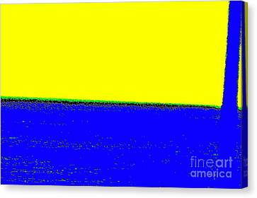 Paisaje Blue Yellow Canvas Print