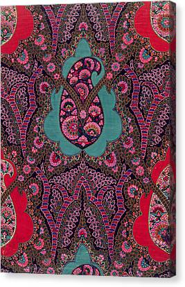 Fabric Canvas Print - Paisley  by George Charles Haite