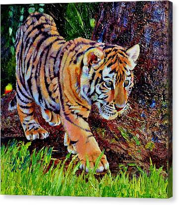 Pajama Stripes Canvas Print