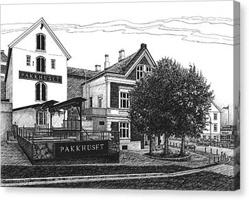Pakkhuset Canvas Print by Janet King