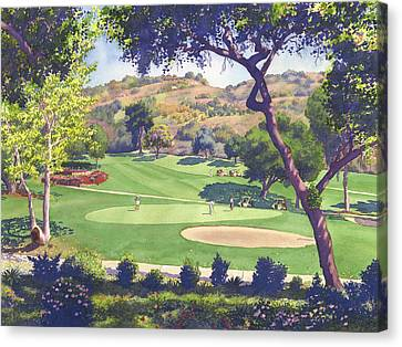 Pala Mesa Golf Course Canvas Print by Mary Helmreich