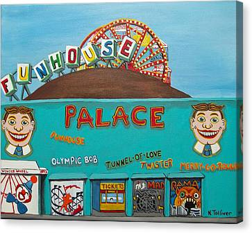 Palace Amusements II Canvas Print by Norma Tolliver