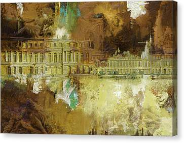 Palace And Park Of Versailles Canvas Print by Catf
