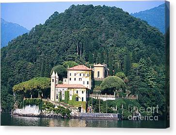 Palace At Lake Como Italy Canvas Print by Greta Corens