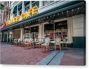Palace Cafe In New Orleans Canvas Print by Andy Crawford