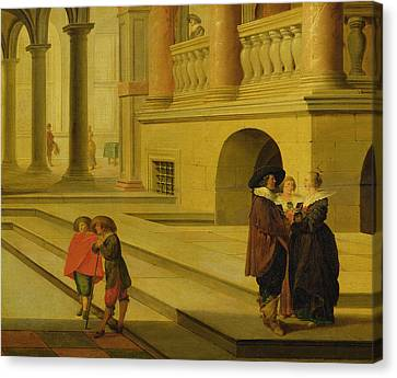 Palace Courtyard Canvas Print by Dirck van Delen