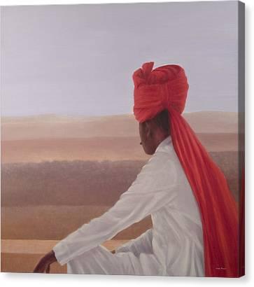 Palace Guard, Jaipur Canvas Print