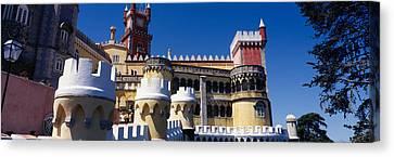 Palace In A City, Palacio Nacional Da Canvas Print by Panoramic Images