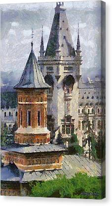 Palace Of Culture Canvas Print by Jeff Kolker