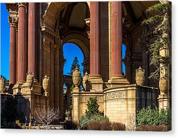 Canvas Print - Palace Of Fine Arts/columns And Curves by Bill Gallagher