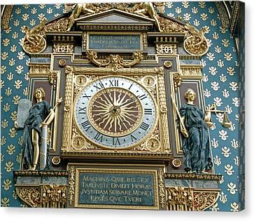 Palace Of Justice Clock Canvas Print