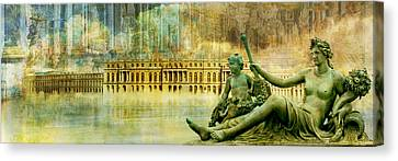 Palace Of Versailles Canvas Print by Catf