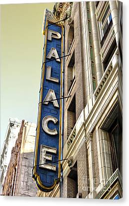 Palace Theater In Downtown Los Angeles Canvas Print by Gregory Dyer