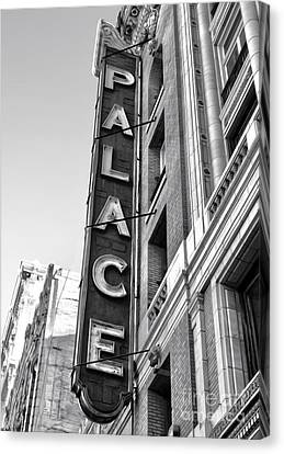 Palace Theater - Los Angeles - Black And White Canvas Print by Gregory Dyer