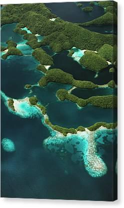 Palau, Micronesia, Rock Islands, Aerial Canvas Print by Stuart Westmorland