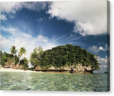 Palau, Micronesia, View Of Honeymoon Canvas Print by Stuart Westmorland