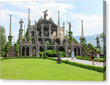 Palazzo Italian Garden Isola Bella Canvas Print by Tom Norring