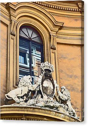 Palazzo Lions Canvas Print