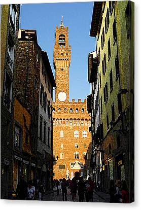 Palazzo Vecchio In Florence Italy Canvas Print