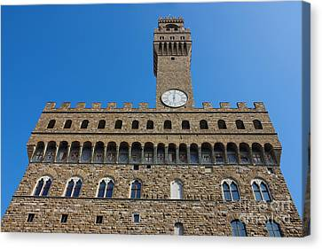 Palazzo Vecchio In Florence Canvas Print by Kiril Stanchev