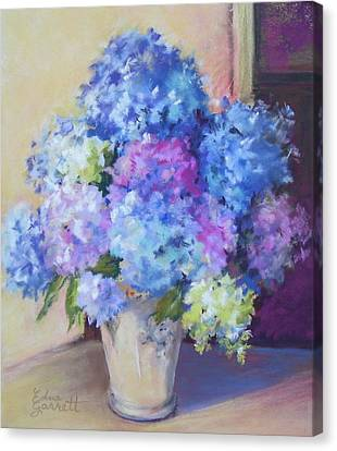 Pale Blue Hydrangeas  Canvas Print