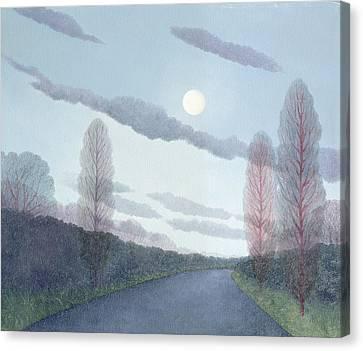 Pale Moon, 2002 Oil On Canvas Canvas Print by Ann Brain