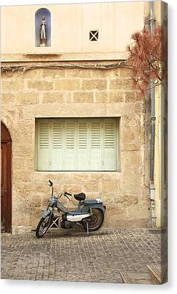 Canvas Print featuring the photograph Pale Shutters by Colleen Williams