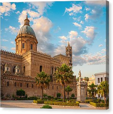 Palermo Cathedral Canvas Print by Gurgen Bakhshetsyan