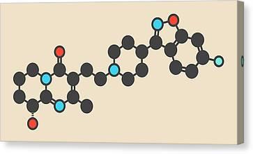 Bipolar Canvas Print - Paliperidone Antipsychotic Drug Molecule by Molekuul