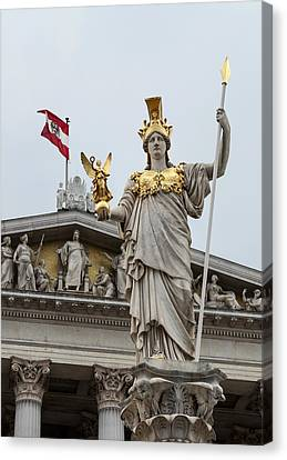 Pallas Athena. Austrian Parliament Building. Canvas Print by Fernando Barozza