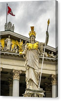 Pallas Athene Brunnen Canvas Print by Pablo Lopez