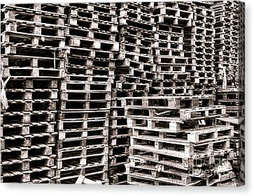 Pallets  Canvas Print by Olivier Le Queinec