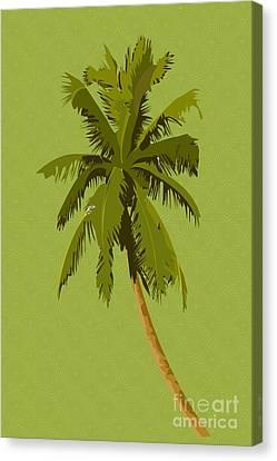 Digital Installation Art Canvas Print - Palm Breeze by Tina M Wenger