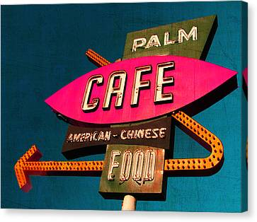 Palm Cafe Canvas Print by Gail Lawnicki